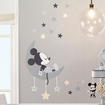 Lambs and Ivy Mickey Mouse Celestial Wall Decal in Gray and Yellow, , large