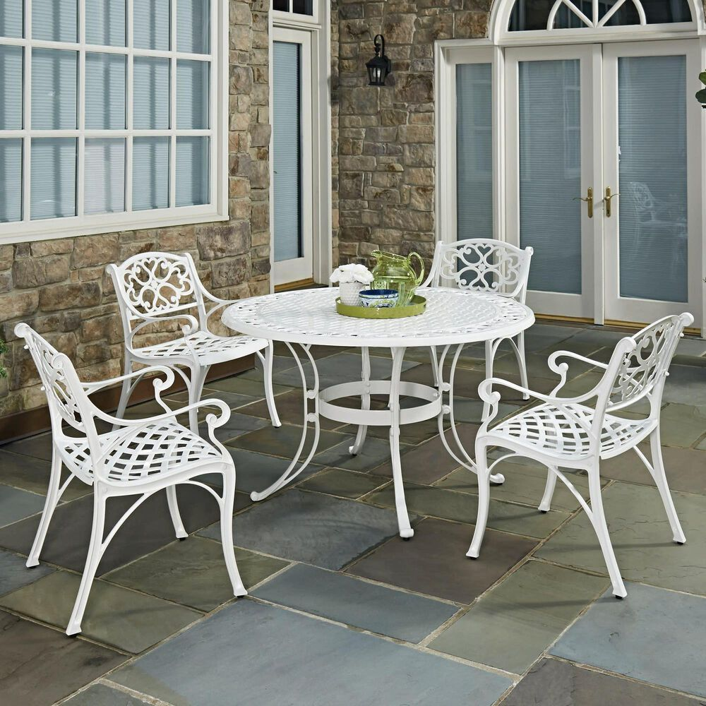 Home Styles Sanibel 5-Piece 48 in Dining Set in White, , large