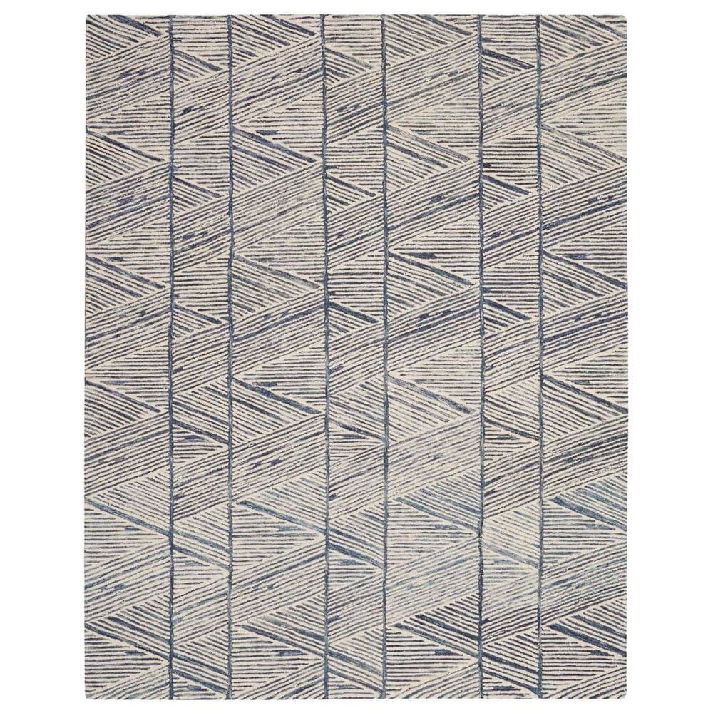 """Nourison Colorado 7'9"""" x 9'9"""" White and Blue Area Rug, , large"""