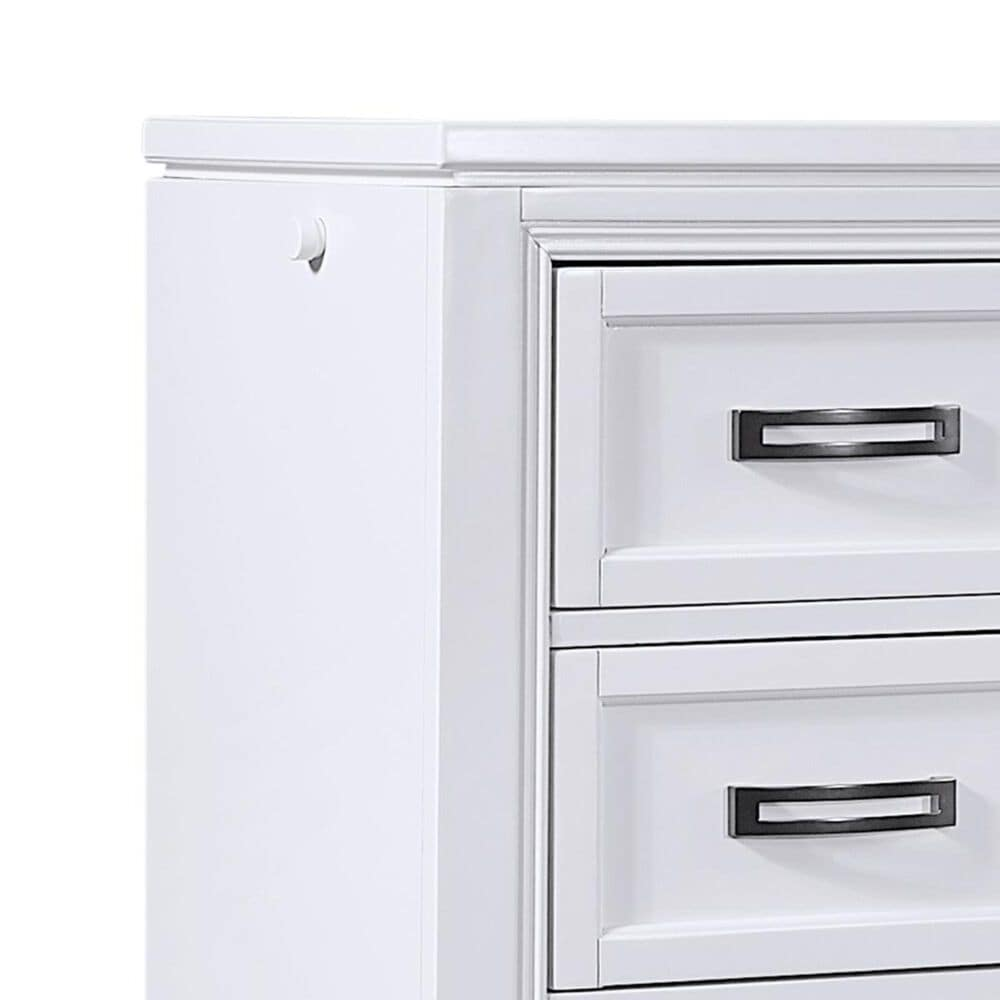 Riva Ridge Hyde Park 5 Drawer Chest in White, , large