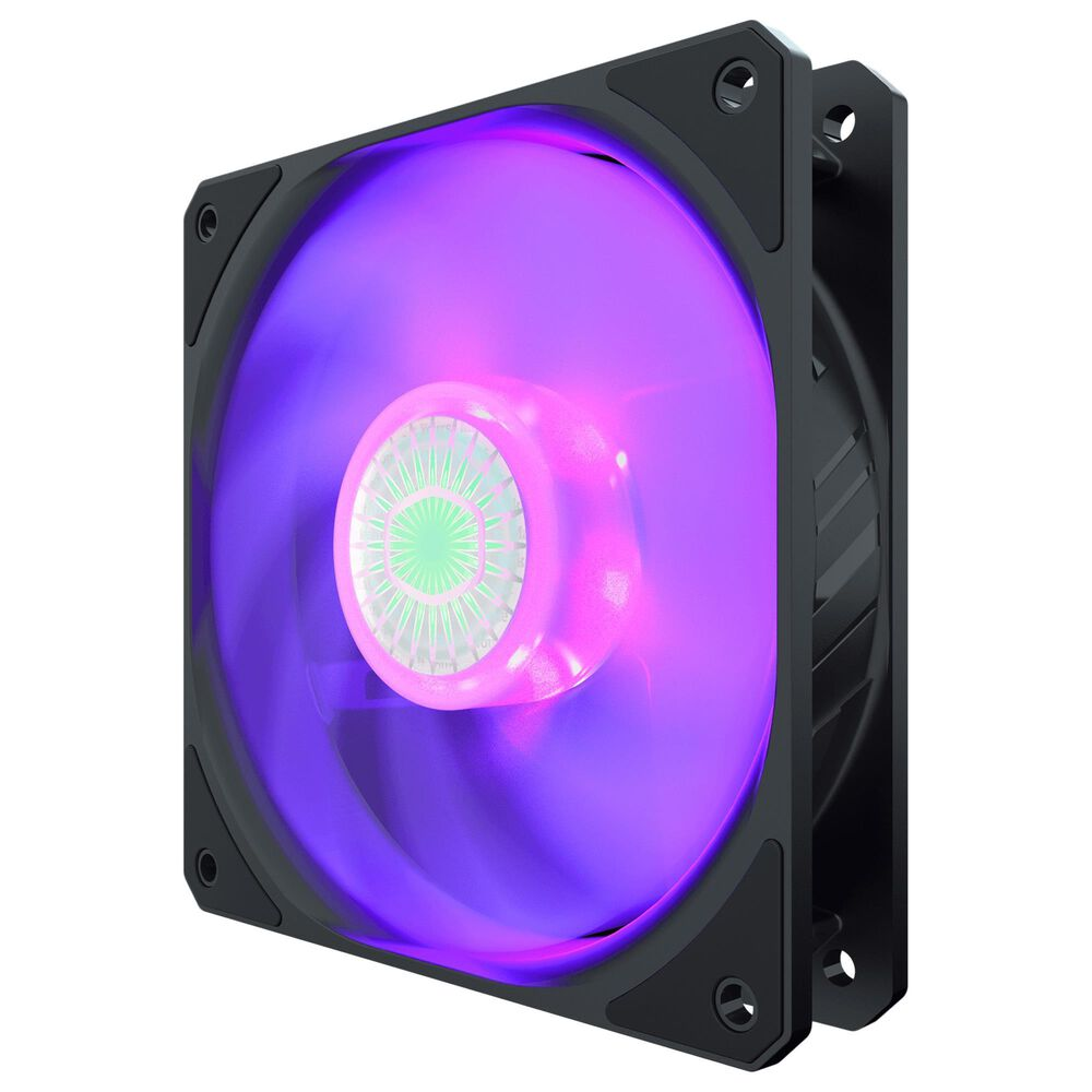 Cooler Master SickleFlow 120 V2 RGB 120mm Square Frame Fan with Customizable LEDs, Air Balance Curve Blade Design, Sealed Bearing, PWM Control for Computer Case & Liquid Radiator, , large