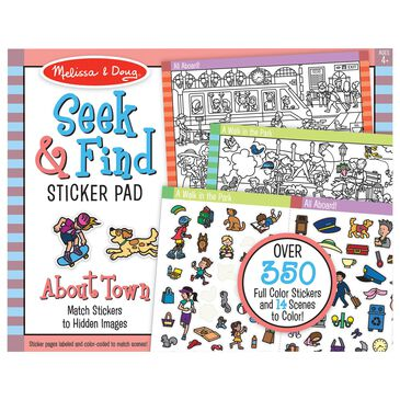 Melissa & Doug Seek and Find Sticker Pad - Around Town, , large