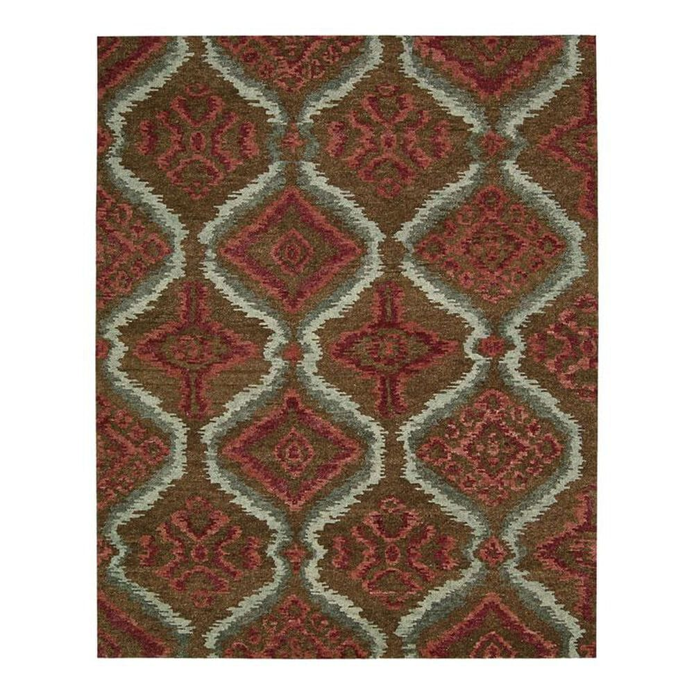 """Nourison Tahoe Modern MTA06 3""""9"""" x 5""""9"""" Brown/Red Area Rug, , large"""