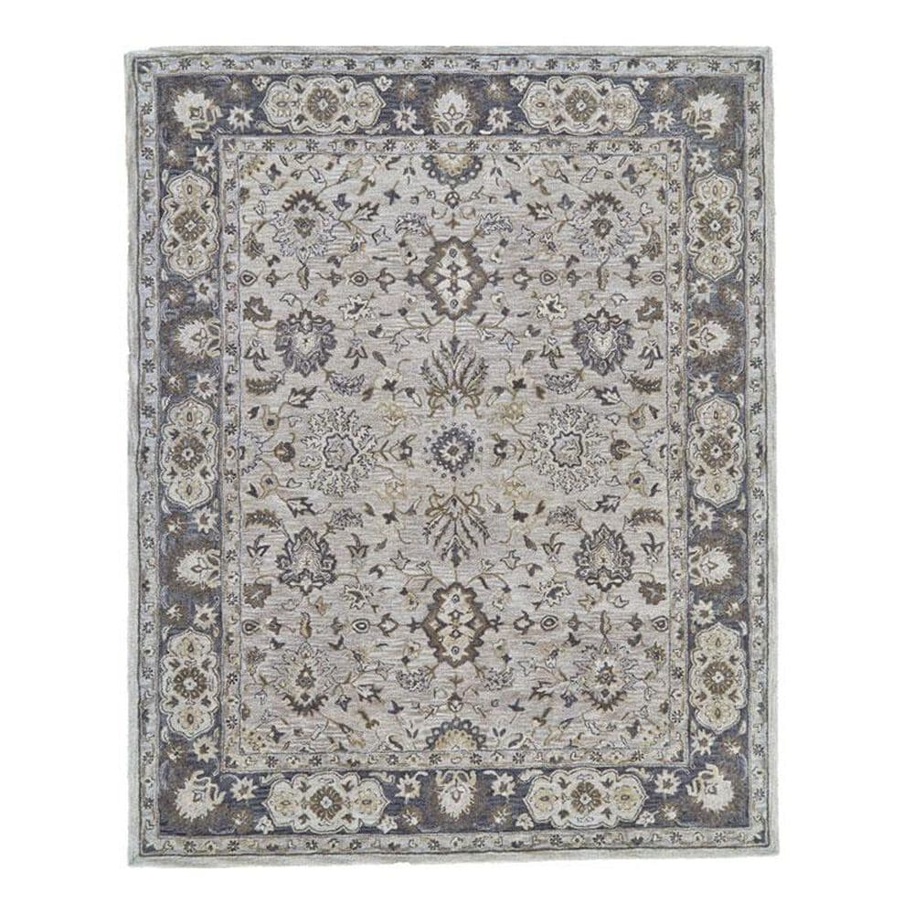 Feizy Rugs Eaton 8399F 8' Round Gray Area Rug, , large