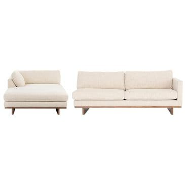 Four Hands Kensington Everly 2-Piece Sectional in Inviting Taupe, , large