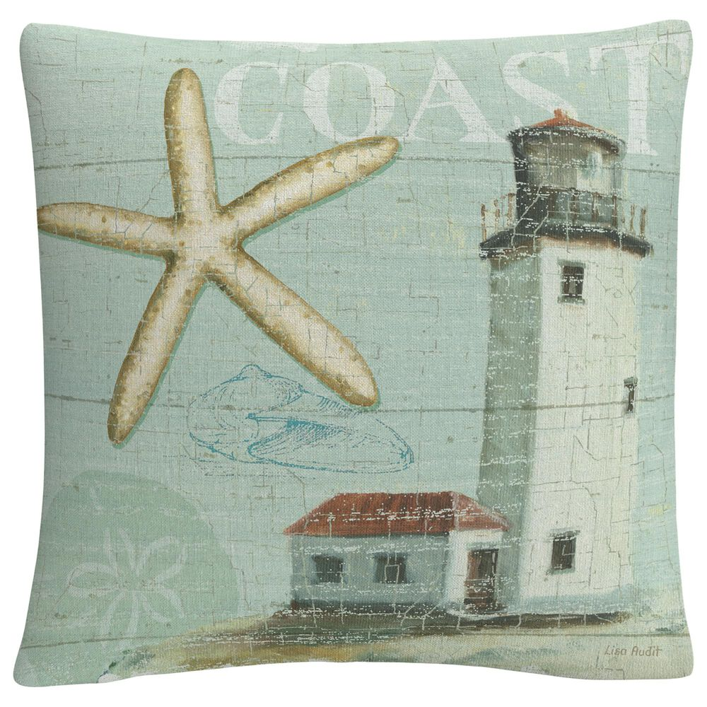 Timberlake Lisa Audit 'Beach House II' 16 x 16 Decorative Throw Pillow, , large