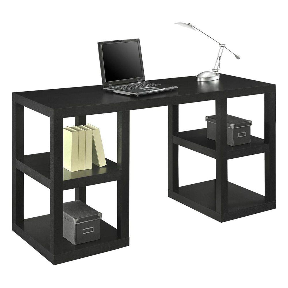 DHP Stanley Deluxe Parsons Computer Desk in Black Oak, , large