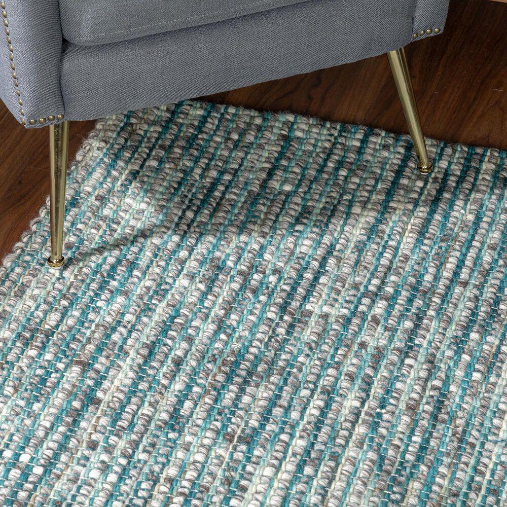 Dalyn Rug Company Bondi BD1 9' x 13' Turquoise Area Rug, , large