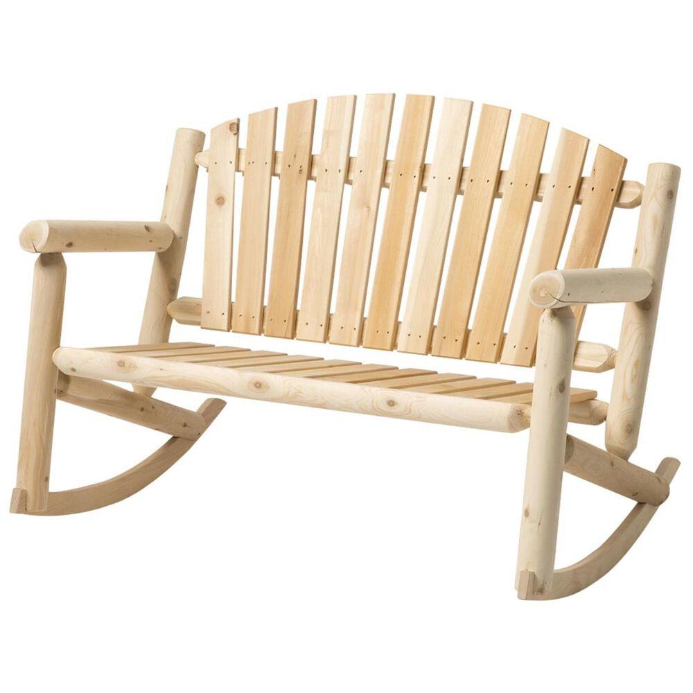 Bestar Outdoor White Cedar 4' Bench Rocker in Natural, , large