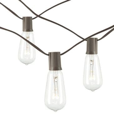 The Gerson Company 20' Patio Light String in Brown and Clear - Set of 2, , large