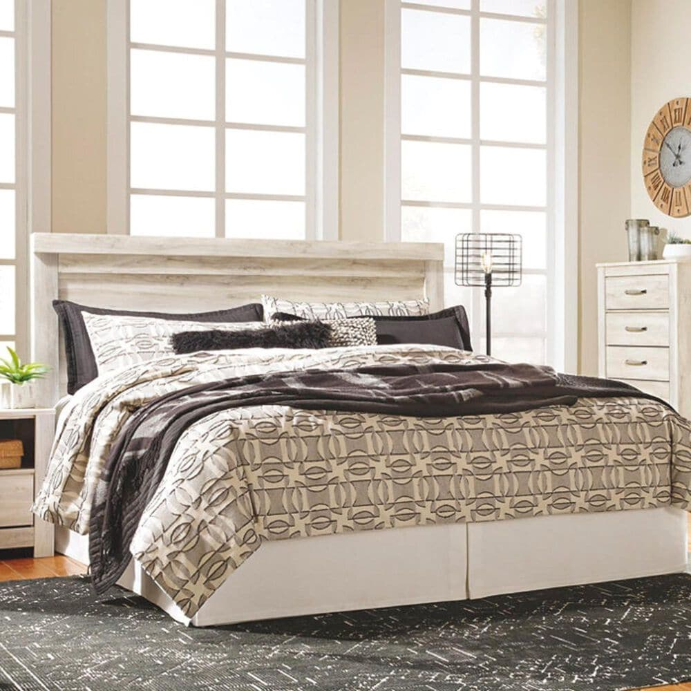 Signature Design by Ashley Bellaby King Panel Headboard in Whitewash, , large