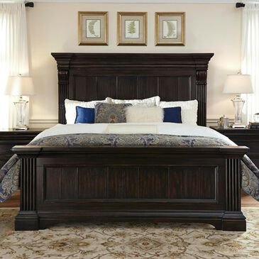 at HOME Caldwell Queen Bed Panel in Dark Expresso , , large