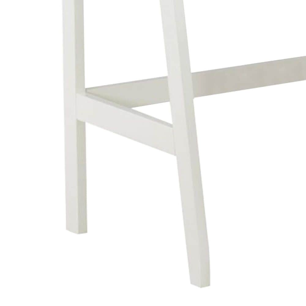 Linden Boulevard Leaning Vanity with Stool in White, , large