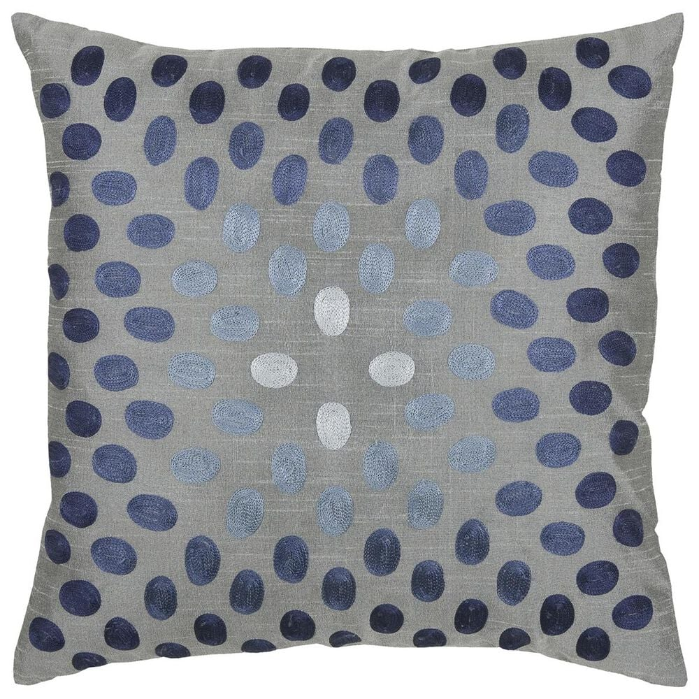"""Rizzy Home 18"""" x 18"""" Ploy Fill Pillow in Blue, , large"""