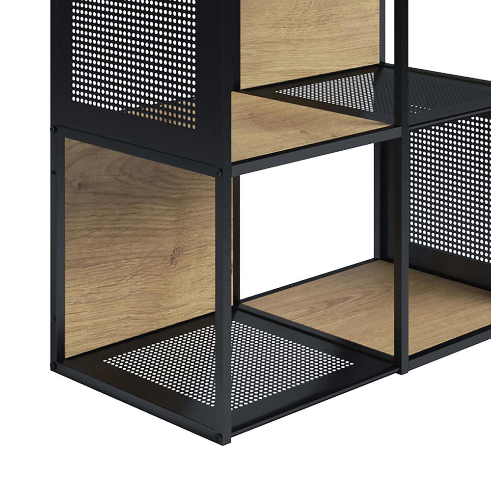 Timberlake Hastings Home 4-Tier Bookcase in Oak and Black , , large