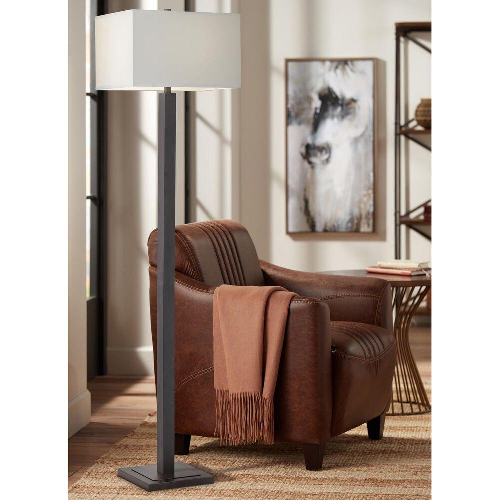 Pacific Coast Lighting Transitional Cooper Floor Lamp in Gun Metal, , large