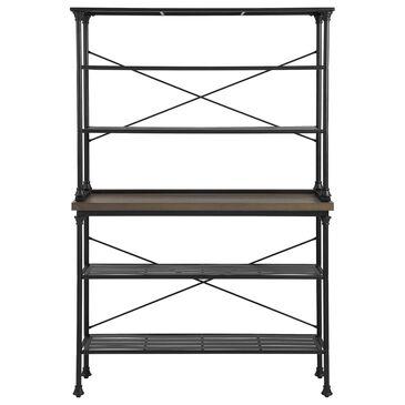 "Crosley Furniture Madeleine Baker""s Rack in Brown and Matte Black, , large"
