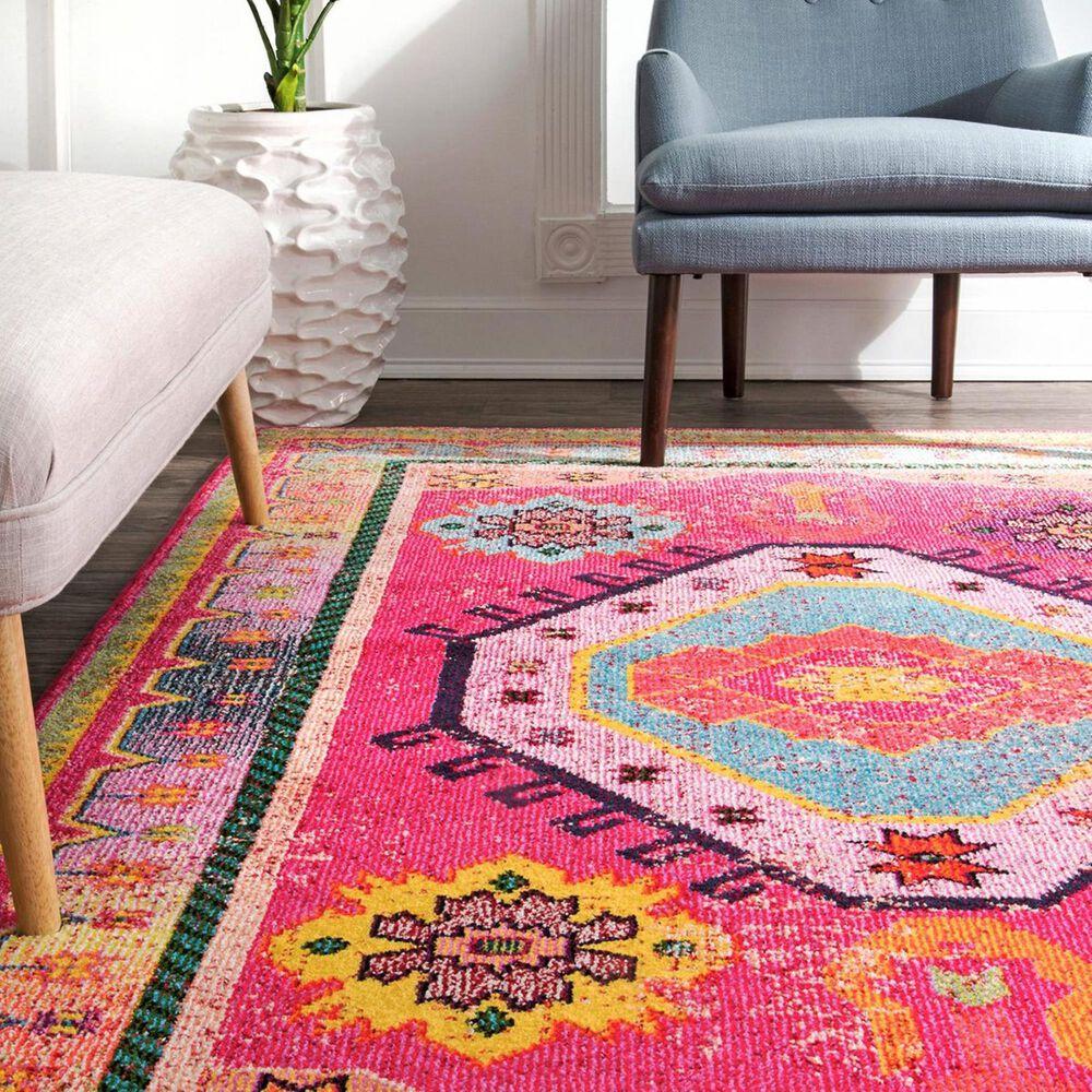 nuLOOM Bella KSBL03A 5' x 8' Pink Area Rug, , large