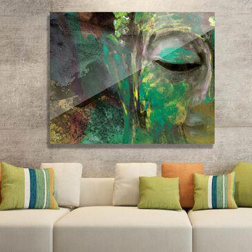 "Creative Gallery ""Emerald Painted Buddha"" 16x20 Acrylic Wall Art Print, , large"