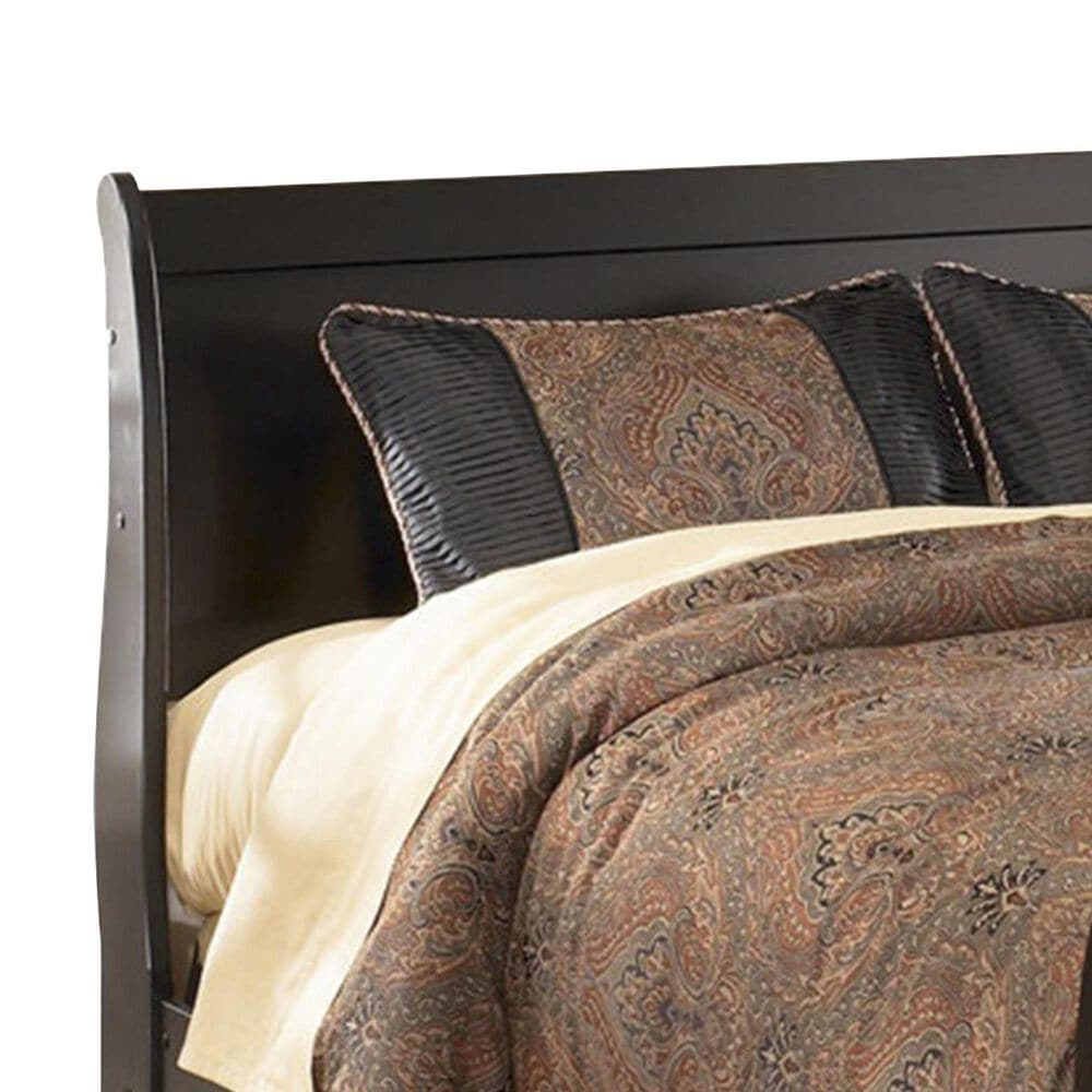 Signature Design by Ashley Huey Vineyard Kids Full Sleigh Bed in Black, , large