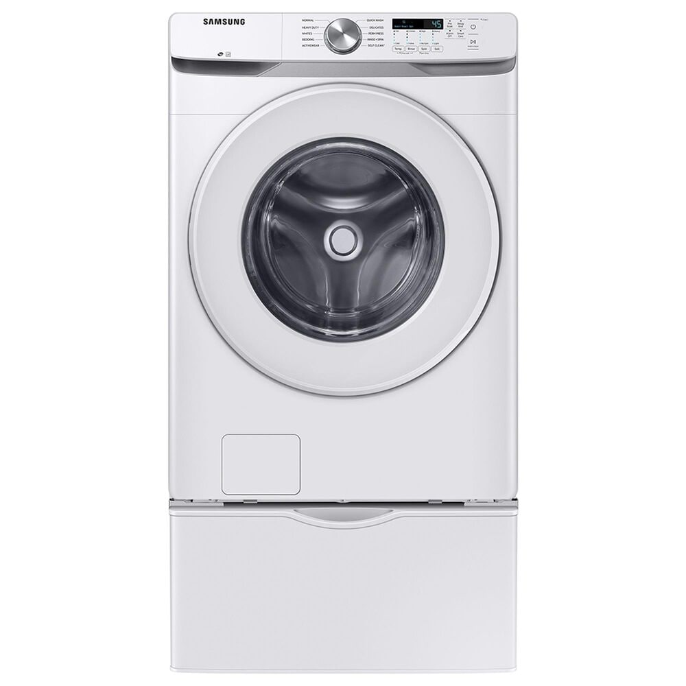Samsung 4.5 Cu. Ft. Front Load Washer and 7.5 Cu. Ft. Electric Dryer with Sensor Dry Laundry Pair in White, , large