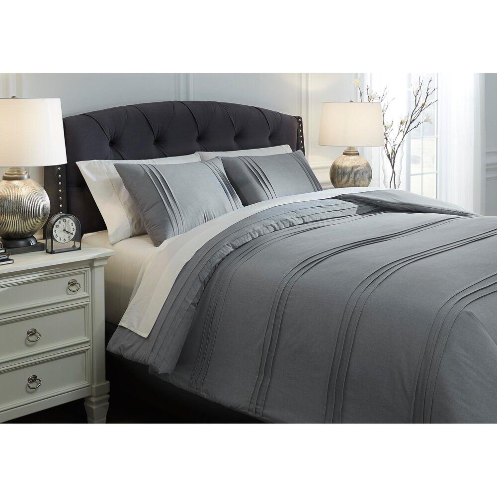 Signature Design by Ashley Mattias Queen Comforter Set in Slate Blue, , large