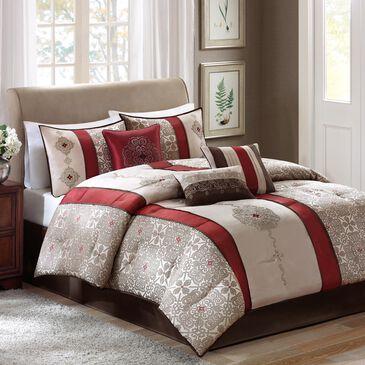 Hampton Park Donovan 7-Piece Queen Comforter Set in Red, , large