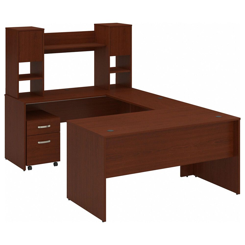 Bush 3-Piece U-Shaped Desk Set in Autumn Cherry, , large