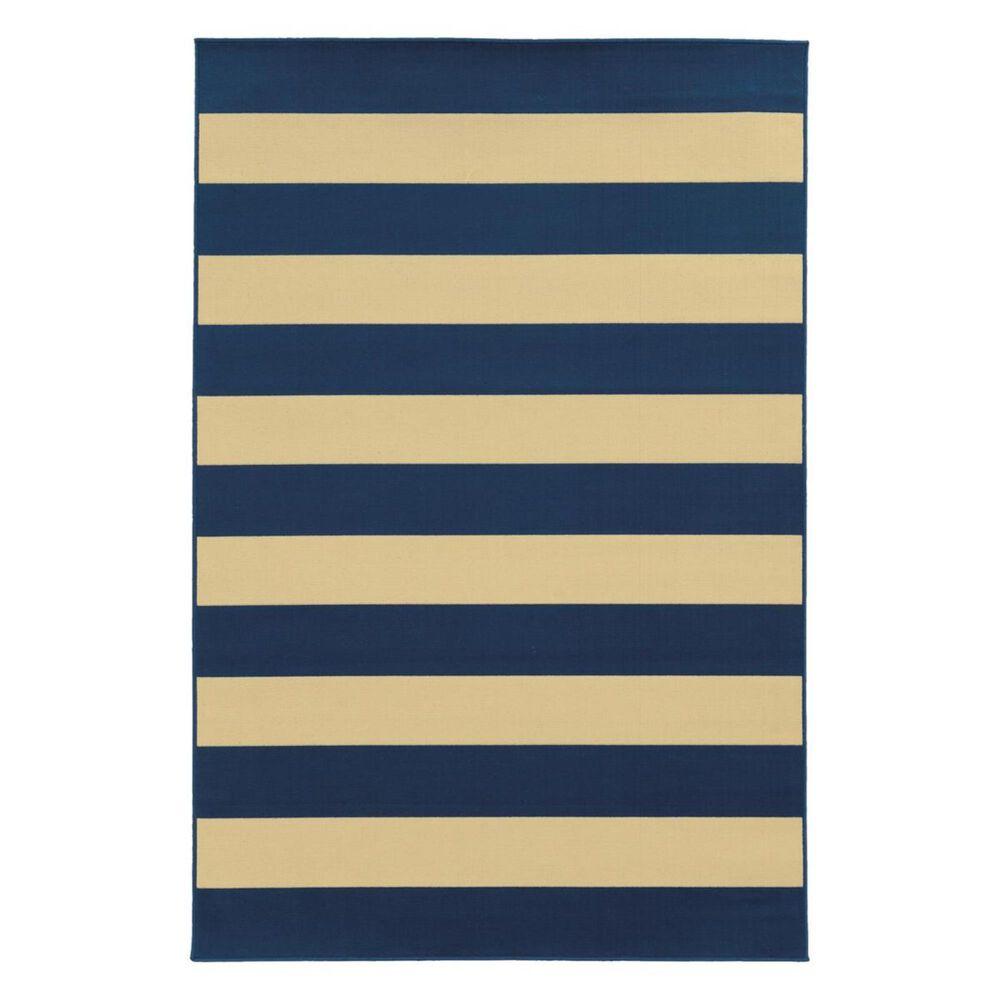 "Oriental Weavers Riviera 4768F 2""5"" x 4""5"" Navy Area Rug, , large"