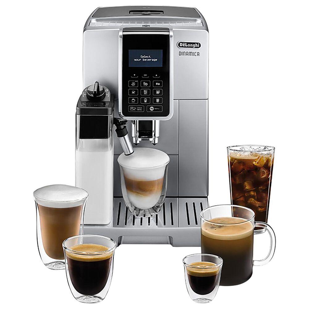 Delonghi Dinamica Automatic Coffee and Espresso Machine with LatteCrema in Silver, , large