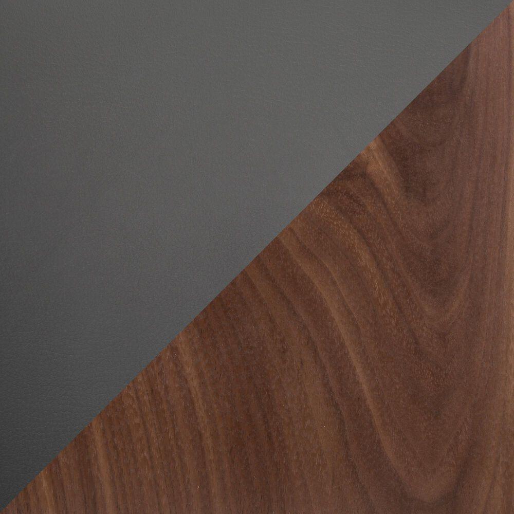 "Lumisource Mason 26"" Counter Stool in Grey/Walnut/Stainless Steel (Set of 2), , large"