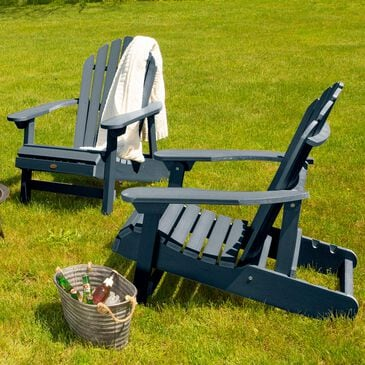 Highwood USA Hamilton Folding Adirondack Chair in Federal Blue (Set of 2), , large