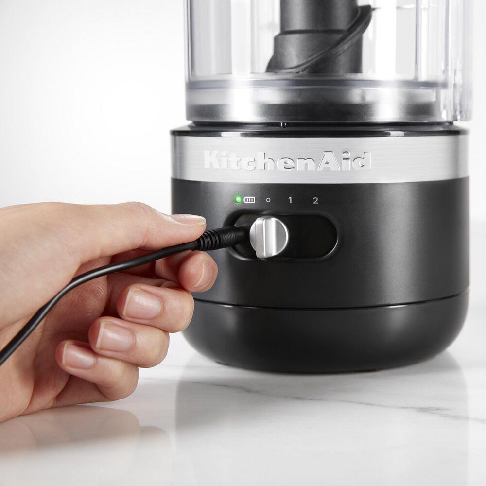 KitchenAid Cordless 5 Cup Food Chopper in Matte Black, , large
