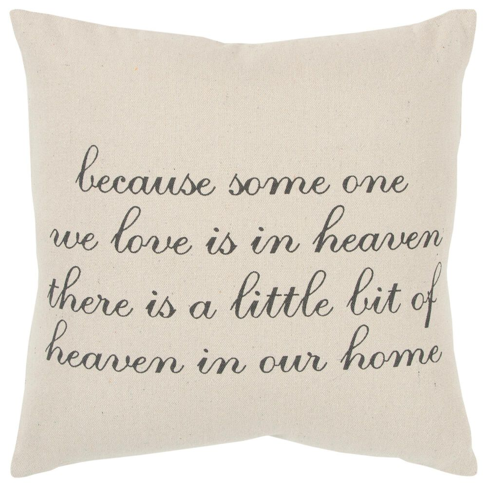 """Rizzy Home Sentiment 20"""" Pillow Cover in Natural/ Tan, , large"""