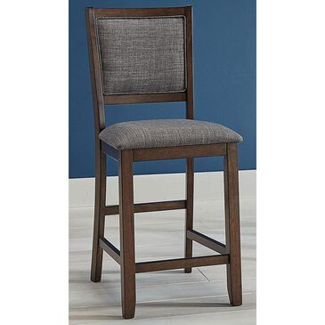 A-America Chesney Counter Height Upholstered Chair in Falcon Brown, , large