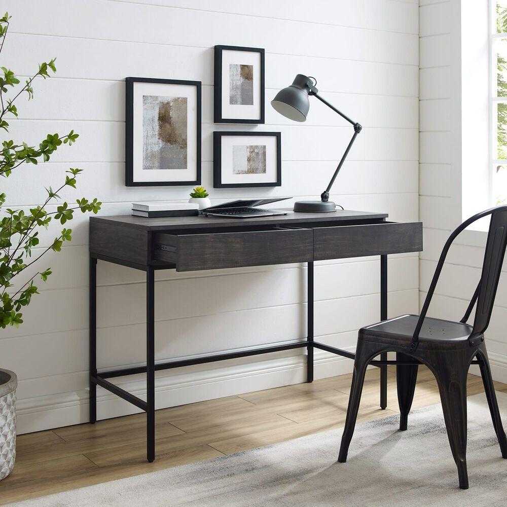 Crosley Furniture Jacobsen Desk in Brown Ash, , large