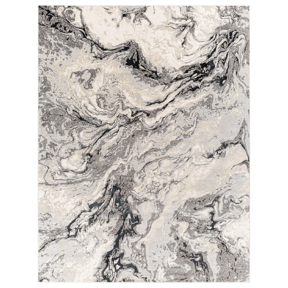 "Surya Carpet, Inc. Impulse 7""10"" x 10"" Black, Gray and Cream Area Rug, , large"