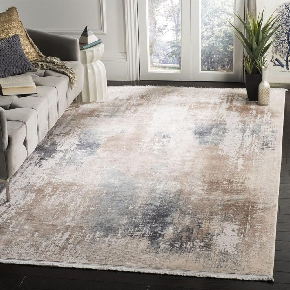 Safavieh Eclipse 6' x 9' Beige and Blue Area Rug, , large