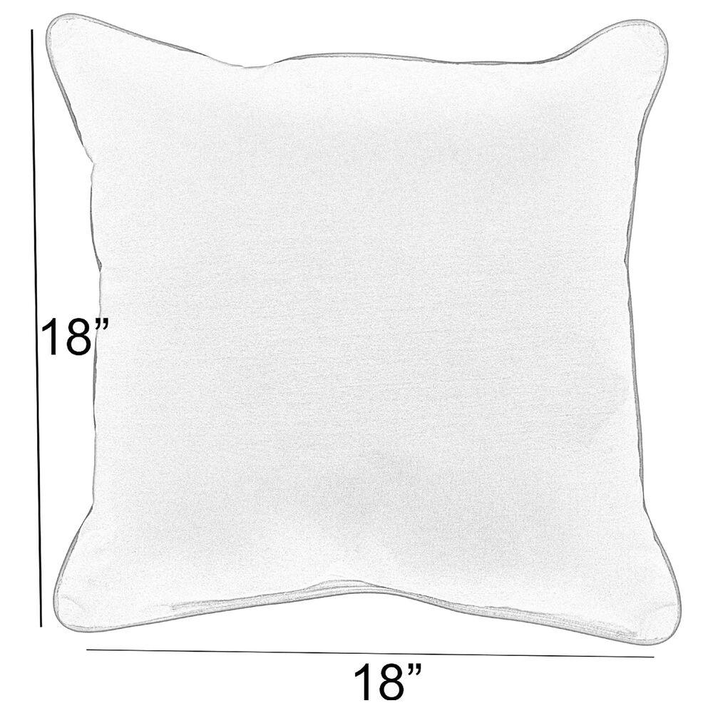 "Sorra Home Sunbrella 18"" Pillow in Dupione Deep Sea (Set of 2), , large"