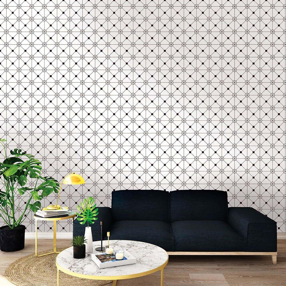 Tempaper Zodiac Black & White Peel and Stick Wallpaper, , large