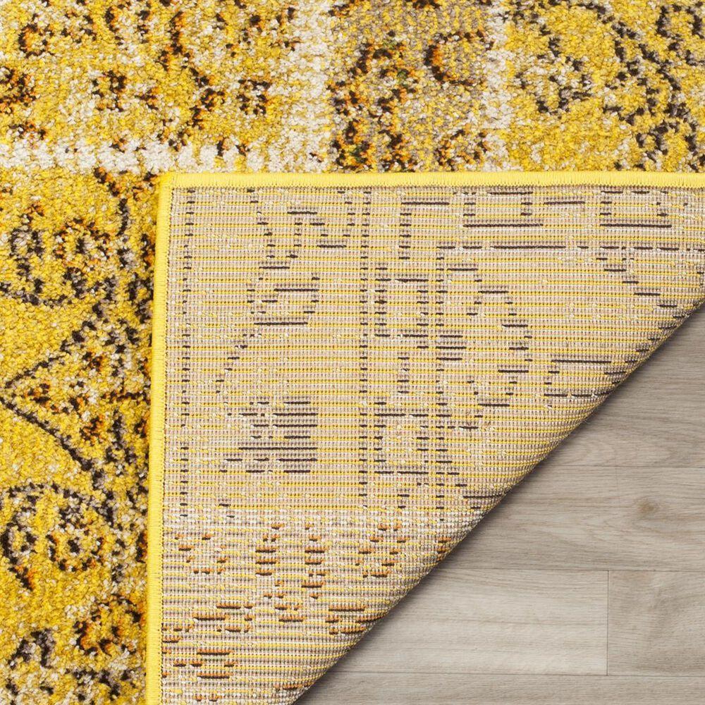 "Safavieh Monaco MNC216K-5 5'1"" x 7'7"" Yellow/Multi Area Rug, , large"