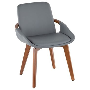Lumisource Cosmo Chair in Grey/Walnut, , large