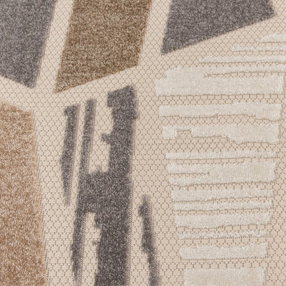 "Central Oriental Fontana Hadia 1653.04 7'10"" x 9'10"" Cream and Brown Area Rug, , large"