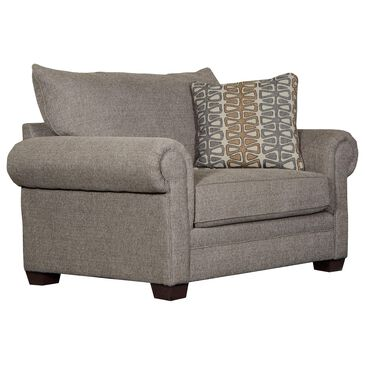 Hartsfield Havana Chair and a Half in Cocoa with Toss Pillow, , large