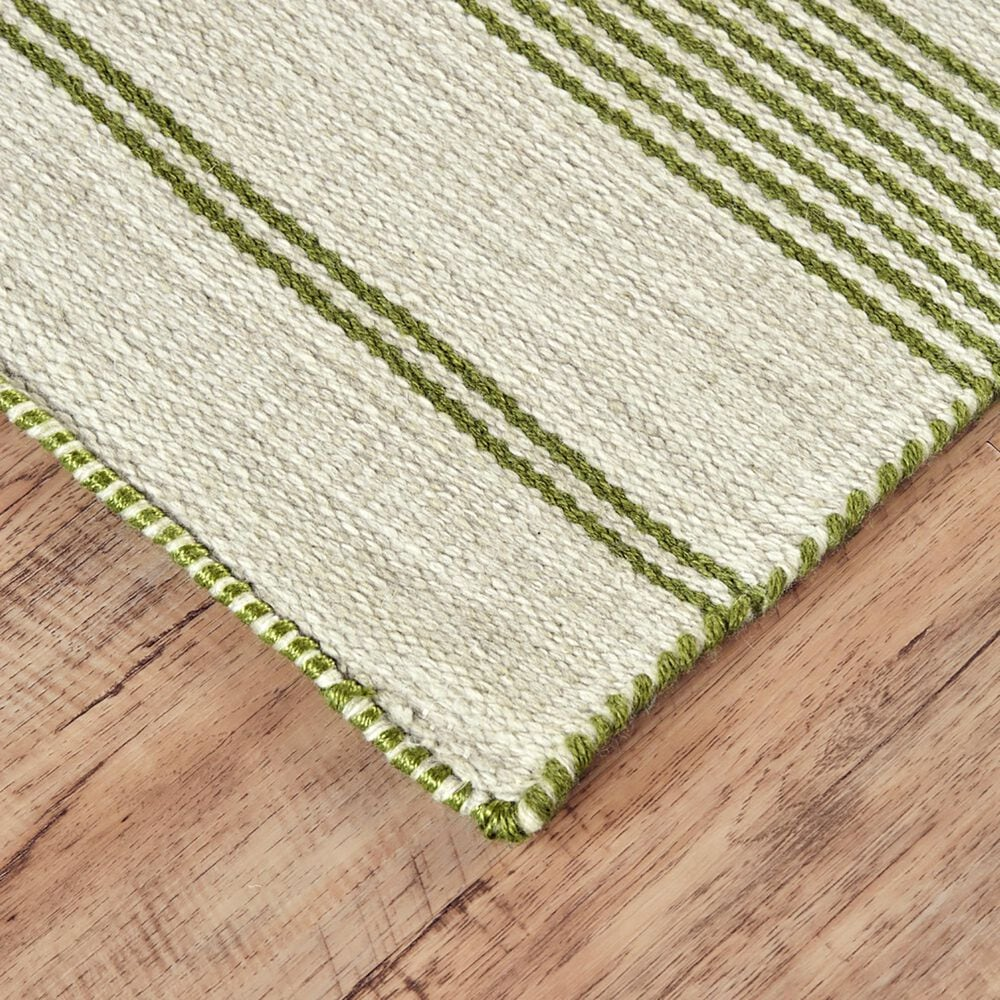 Feizy Rugs Duprine 2' x 3' Green and Ivory Area Rug, , large