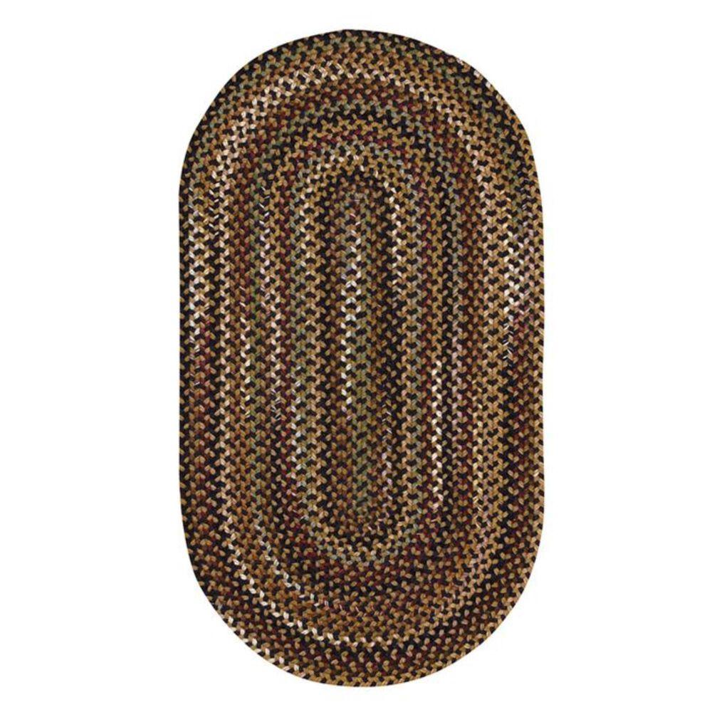 Capel Gramercy 0070 3' Round Black Area Rug, , large