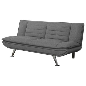 Pacific Landing Julian Sofa Bed in Grey Cushion and Chrome, , large
