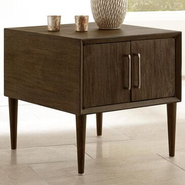 Signature Design by Ashley Kisper Square End Table in Dark Brown, , large