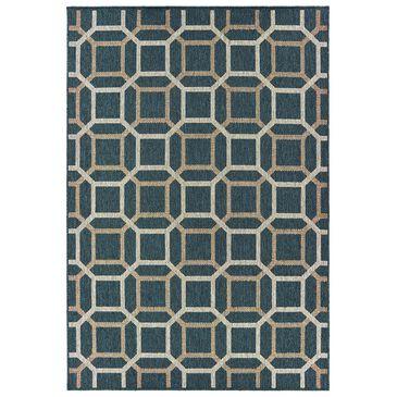 "Oriental Weavers Latitude 806B 1'10"" x 7'6"" Blue Runner, , large"