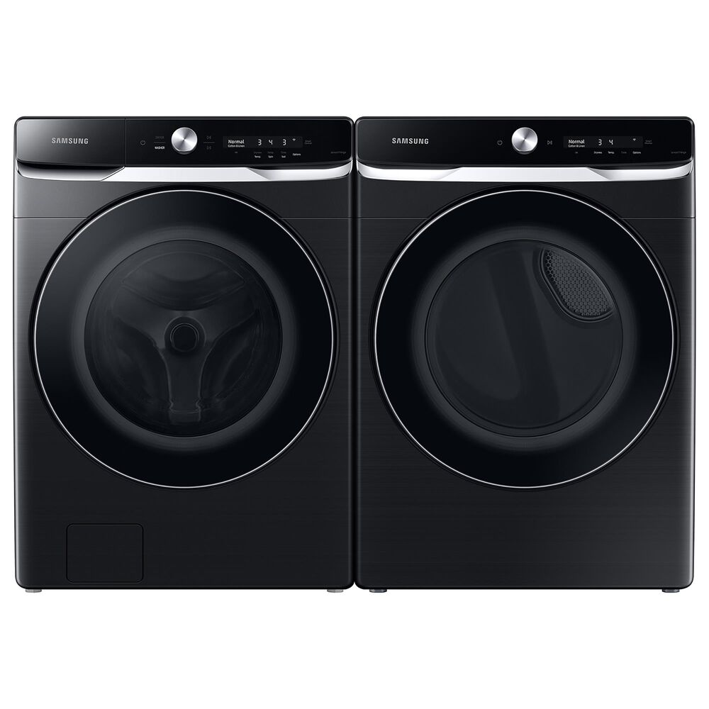 Samsung 7.5 Cu. Ft. Smart Dial Gas Dryer with Super Speed Dry in Brushed Black, , large